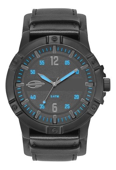 Relógio Mormaii Masculino Couro Preto Mo2036ir/2a