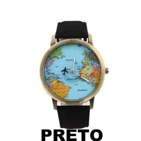 Relógio Mapa Mundi Todas As Cores Pronta Entrega