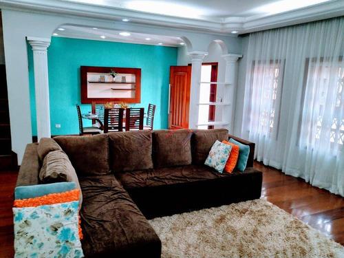 Sobrado Com 4 Dormitórios, 258 M² - Venda Por R$ 980.000,00 Ou Aluguel Por R$ 8.000,00/mês - Vila Guarani - Mauá/sp - So0028
