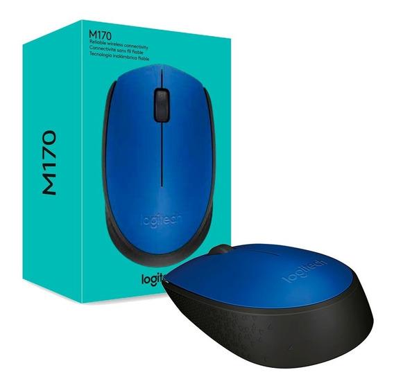 Mouse Sem Fio Logitech Wireless M170 Azul