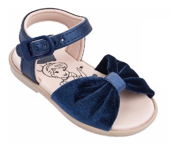 Sandália Menina Bebê Cinderela Laço Azul Grendene Clique+