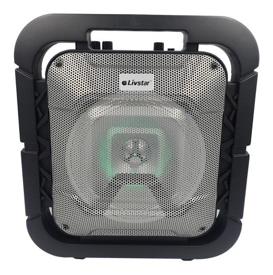 Caixa De Som Bluetooth Fm Micro Sd Entrada Microfone