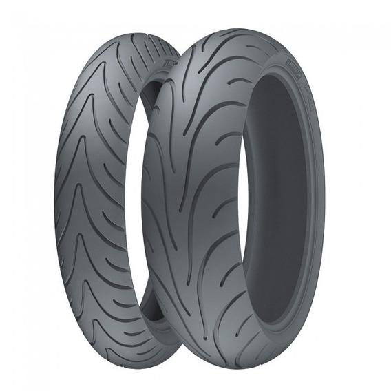 Par De Pneu 120/70-17 + 180/55-17 Michelin Pilot Road 2