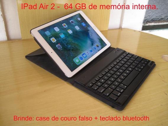 iPad Air 2 - 64 Gb Novo Com Dois Brindes Teclado + Bolsa