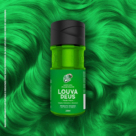 Tinta Louva Deus Verde Neon 150ml Kamaleão K14556