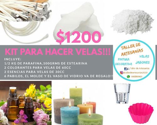 Kit Para Hacer Velas - Molde Y Frasco De Regalo