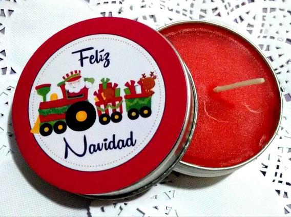 Felices Fiestas Navidad Lata Vela Aromática Personalizada