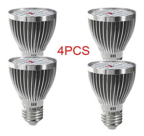 4 Lâmpadas Crescem Luz E27 60w 2835 Smd Espectro Completo