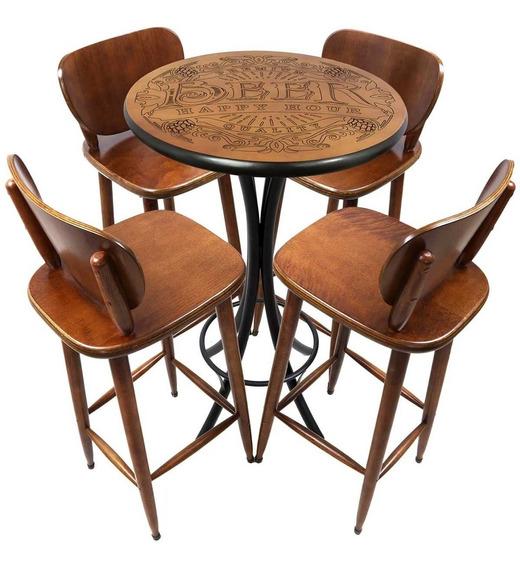 Mesa Pequena Com 4 Cadeiras Redonda Para Cozinha - Bebidas