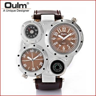 Cod 670 - Reloj Oulm Marron Malla Cuero - Joyas Margaret