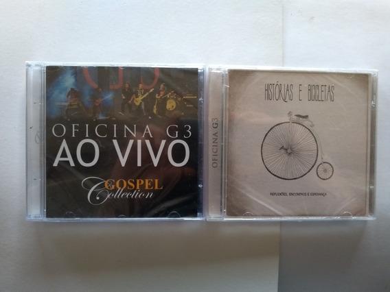 Cd Oficina G3 Histórias E Bicicletas + Cd Gospel Collection