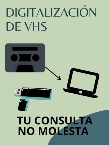Vhs Y Vhs-c A Digital--gran Mendoza