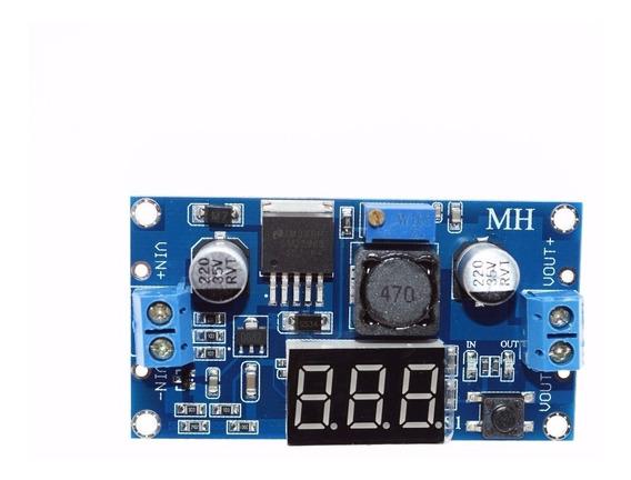 Regulador Tensão Ajustável Lm2596s Step Down Dc Dc + Display