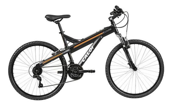 Bicicleta Mtb Caloi T-type Aro 26 Susp Diant 21 Vel - Preto