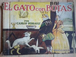 Libro El Gato Con Botas Carlos Perrault Argentina 1954