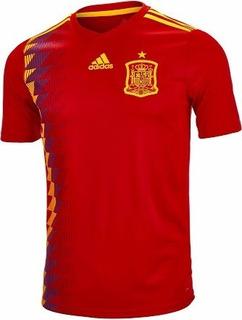 Camisa adidas Oficial Espanha 1 Infantil 2018