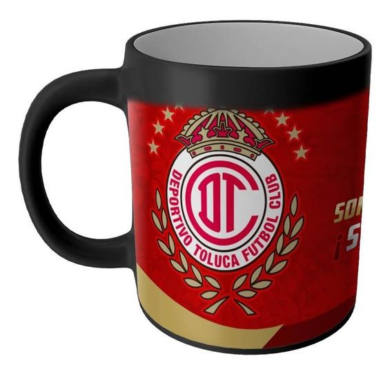 Taza Magica Diablos Rojos Toluca Productos Futbol Mexicano Articulos Regalos Cosas Accesorios Taza Sublimada