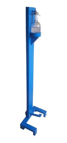 Dispensador Gel, 130x34x22, Totalmente Metalico, Azul Blanco