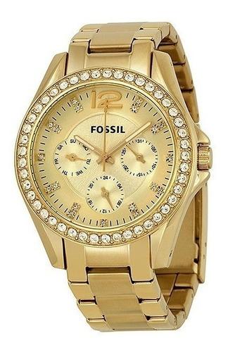 Reloj Fossil Mujer Es3203 Acero Original Nuevo En Caja