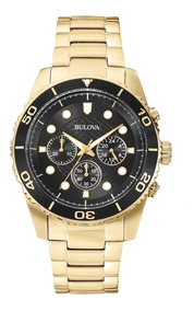 Relógio Bulova Masculino Wb31989u Dourado Preto Analogico