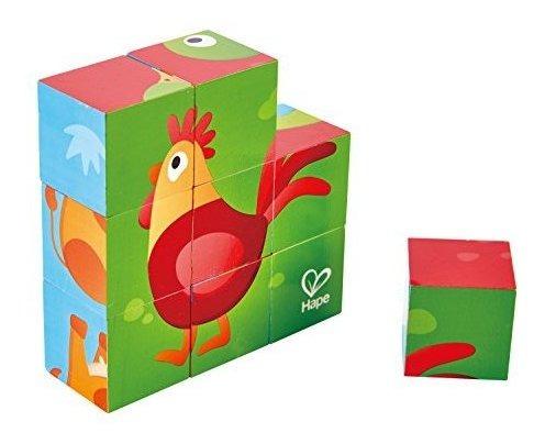 Juego De Puzzle Hape Farm Animal Block, Multicolor X 2