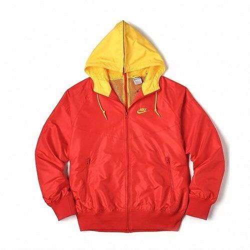 Jaqueta Nike Air Windrunner Blusão C/ Capuz Vermelho Amarelo