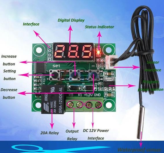 Thermo Switch Module Dc 12 V Sensor De Ntc À Prova D