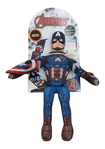 Imagen 1 de 7 de Juguete Muñeco Capitan America Marvel Soft New Toys 35cm