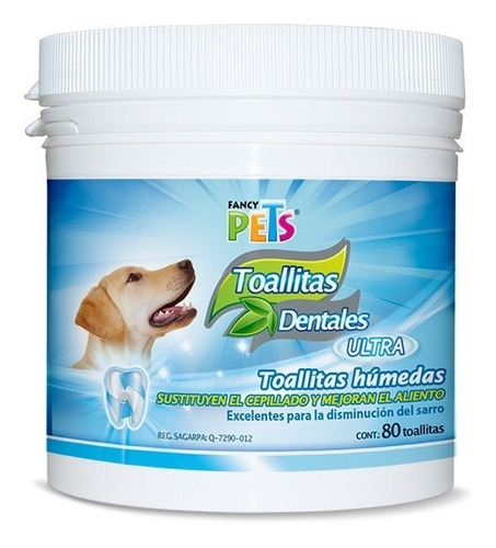Toallitas Dentales Antisarro Ultra  80 Pzas Perro Fancy Pets