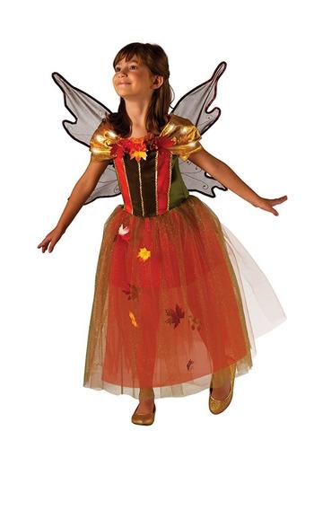 Disfraz Niña Fall Fairy Hada Otoño Con Luz 3 A 4 Años