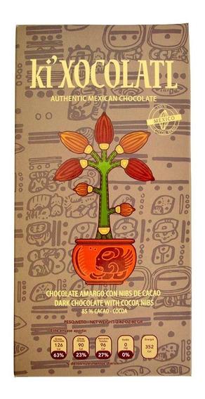 Ki Xocolatl Gris Al 85% Cacao Criollo, Natural, Orgánico