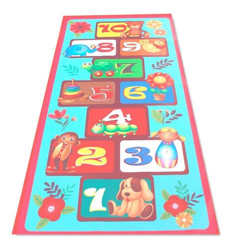 Imagen 1 de 2 de Tapete Didactico Golosa Niños Banner Impreso Grande 1x2m