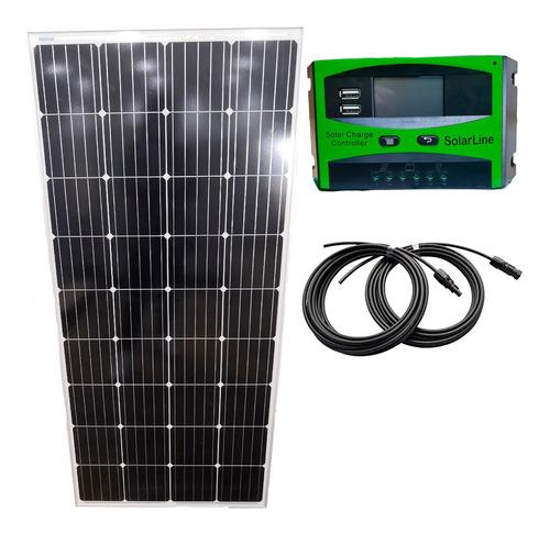Panel Solar Fotovoltaico 185 Watts 185wp Regulador 30a +8mts