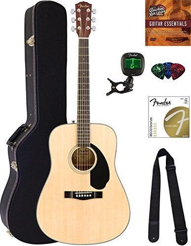 Fender Cd60s Dreadnought Guitarra Acustica Paquete Natural