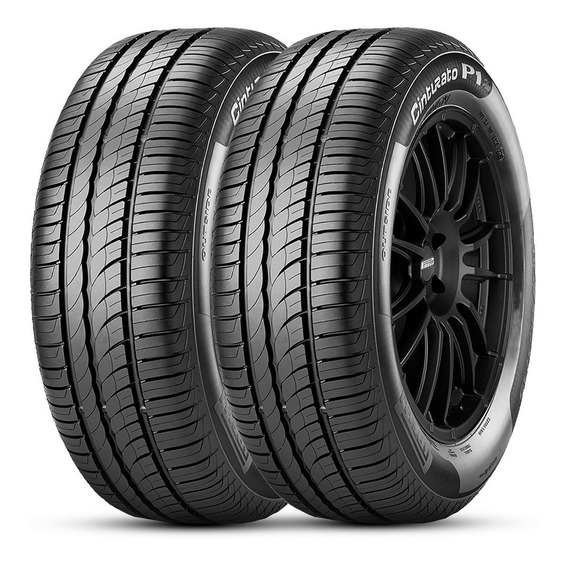 Kit 2 Pneu Pirelli Aro 15 195/55r15 85v Cinturato P1 Plus