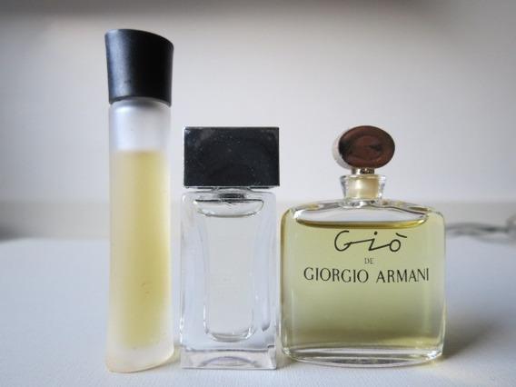 Combo 3 Miniaturas Perfume Giorgio Armani Mania Diamond Gio