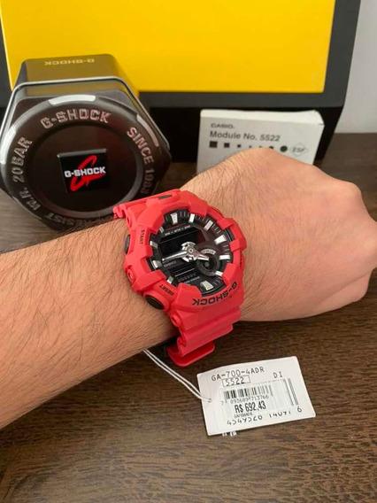 Relógio G-shock Ga-700-4adr Caixa/12x S/juros/frete Grátis!!