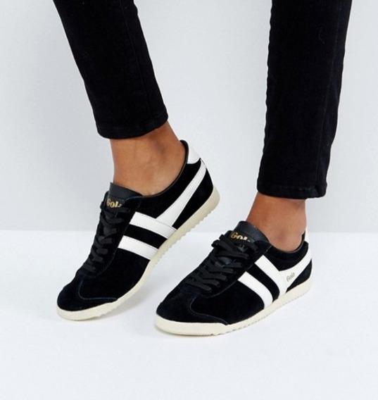 Zapatillas Gola Cuero Leather Negras Y Blancas Nuevas Ee.uu