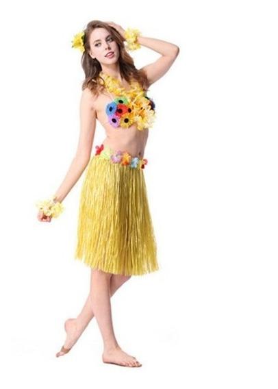 Kit 20 Saia De Havaiana 60 Cm Diversas Cores Para Carnaval