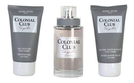 Kit Perfume Jeanne Arthes Colonial Club Signature Masculino