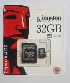 Cartão De Memoria 32gb Kingston Micro Sd Novo Frete 12,00