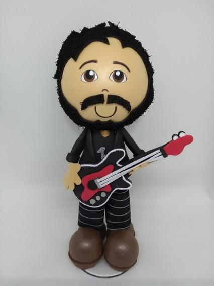 Boneco Guitarrista Em Eva 3d 23 Cm Profissões - A2
