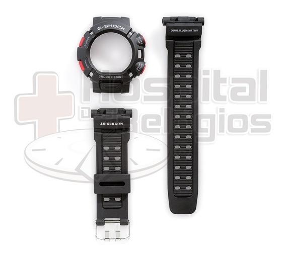 Kit Capa Pulseira Casio G-shock Mudman G-9000 G-9010 Preto