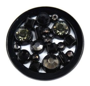 Disco Vazado Black Em Aço Inoxidável Para Colar Tipo Moneda
