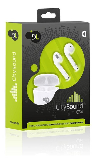 Fone De Ouvido Bluetooth Dl Citysound Cs4 Estojo De Recarga