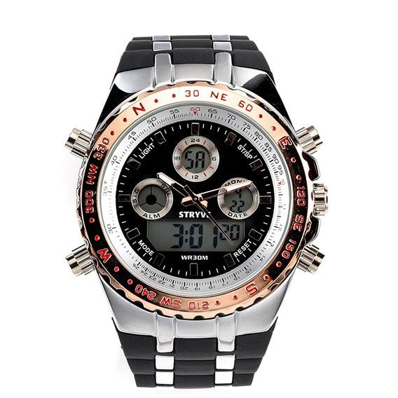Stryve S8002 Dual Visualización Reloj Digital Cronógrafo Lum