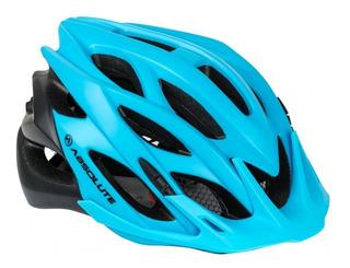 Capacete Para Bike Absolute Com Led Azul/preto M/g