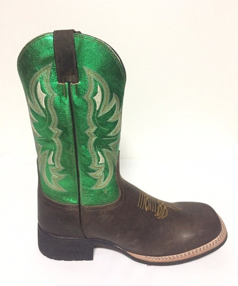 Bota Brazil Country 3628 X3 Crazy Horse Café/steel Green