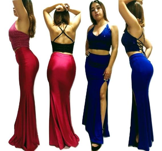 Vestido Fiesta Falda Sirena + Top Varios Modelos