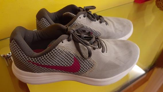 Nike Revolution Feminino Cinza E Rosa N.35